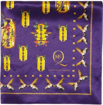 McQ by Alexander McQueen Razor blade-print silk scarf