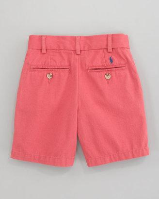 Ralph Lauren Preppy Saltwater Washed Shorts, Brick Red