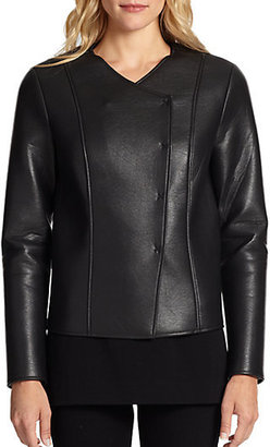 Saks Fifth Avenue Collection Faux-Leather Jacket
