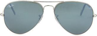 Ray-Ban Original Aviator Sunglasses, Silver Mirror