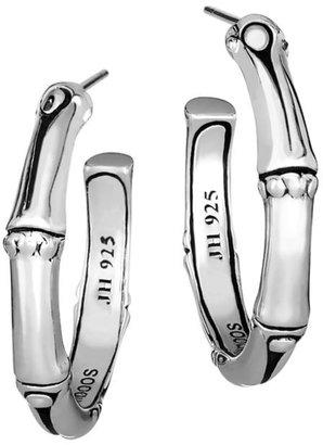John Hardy Bamboo Sterling Silver Hoop Earrings