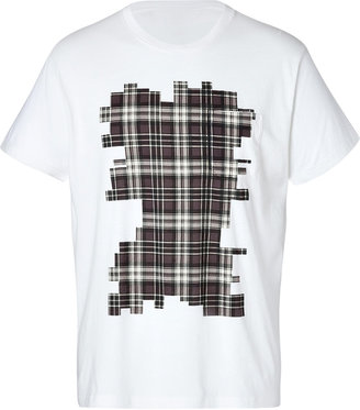 Marc by Marc Jacobs Cotton Bromley Plaid T-Shirt in Cloud Multi
