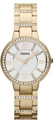 Women's Fossil 'Virginia' Crystal Accent Bracelet Watch, 30Mm $125 thestylecure.com