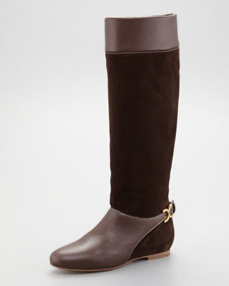 Chloé Marcie Suede Tall Boot
