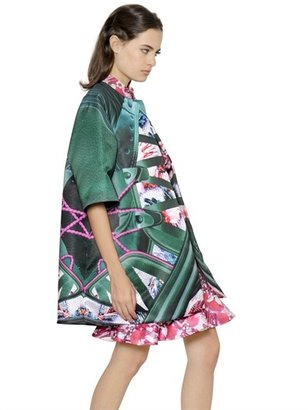 Mary Katrantzou Graphic Shoe Printed Cotton Blend Coat