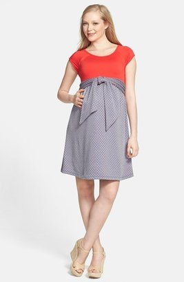 Women's Maternal America Scoop Neck Front Tie Dress $146 thestylecure.com