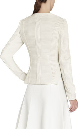 BCBGMAXAZRIA Petar Pleather-Strapped Jacket