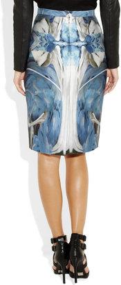 Prabal Gurung Printed silk and cotton-blend pencil skirt