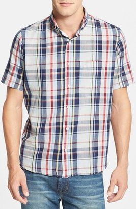 Tailor Vintage 'Grameen Check' Regular Fit Short Sleeve Madras Sport Shirt