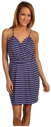 BCBGMAXAZRIA BCBGeneration - Striped Knit Tank Dress (Smoky Navy) - Apparel
