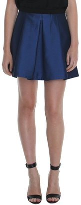 Tibi Simona Jacquard Pleated Skirt