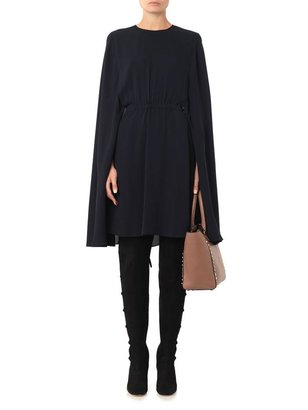 Valentino Cape-back silk-crepe dress