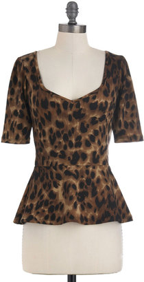 Giddy City Top in Leopard