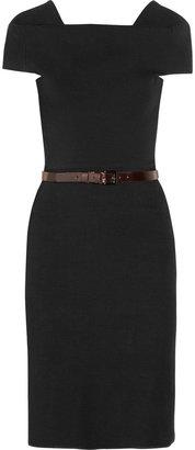 La Petite S***** Belted linen-blend dress