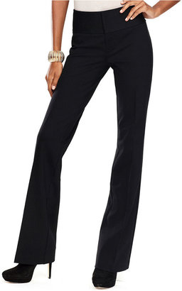 INC International Concepts Pants, Ponte-Knit Flat-Front Trousers