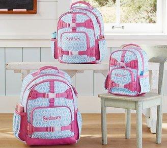 Pottery Barn Kids Mackenzie Aqua Peace Backpacks