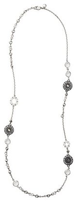 LOFT Long Crystal and Medallion Illusion Necklace