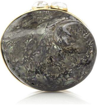Celestina Black shell clutch