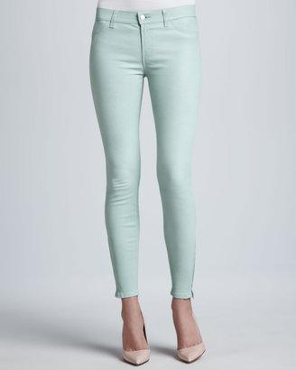 J Brand Jeans L8001 Leather Skinny Jeans, Mint