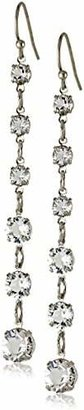 "1928 Jewelry ""Signature Crystal"" Genuine Swarovski Linear Earrings $40 thestylecure.com"