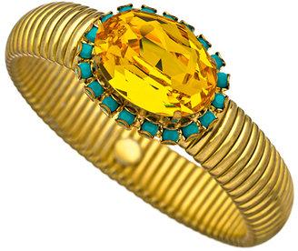 Liz Palacios Champagne Crystal Statement Bracelet
