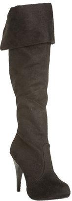 Windsor Black Over the Knee Boots
