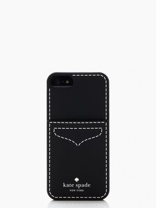 Kate Spade Loafer pocket silicone iphone 5 case
