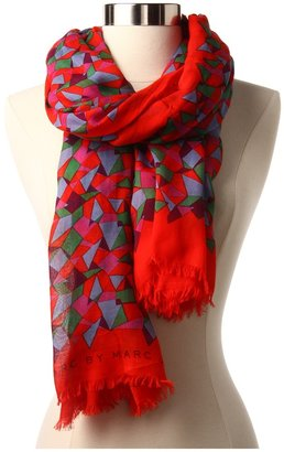 Marc by Marc Jacobs Taboo Print Scarf (Envy Green Multi) - Accessories