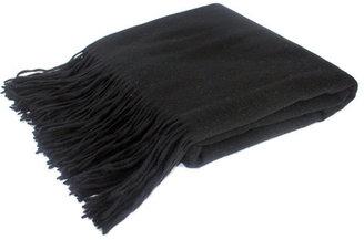 pür cashmere Signature Throw Black