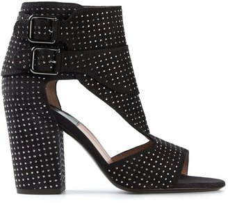 Laurence Dacade studded sandals with side buckle fastenings $980 thestylecure.com