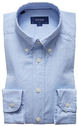 Eton Soft Light Blue Royal Oxford Shirt - Slim Fit