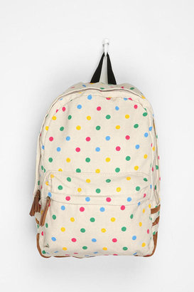 Urban Outfitters Carrot Polka Dot Backpack