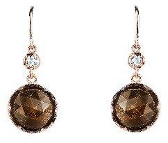 Irene Neuwirth Rose Cut Golden Sapphire Earrings - Rose Gold