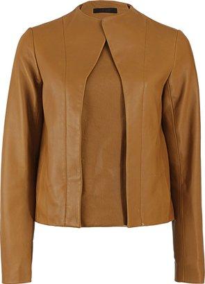 The Row Asymmetrical-Zipper Polfer Leather Jacket