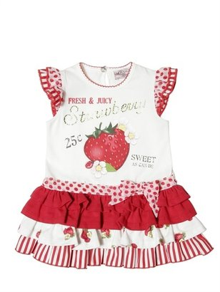 MonnaLisa Cotton Jersey Frill Dress