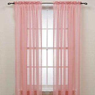Bed Bath & Beyond Pink Rod Pocket Sheer Window Curtain Panel