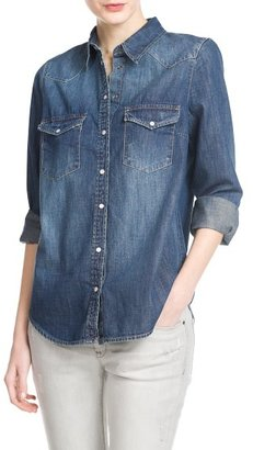 MANGO Outlet Dark Denim Shirt