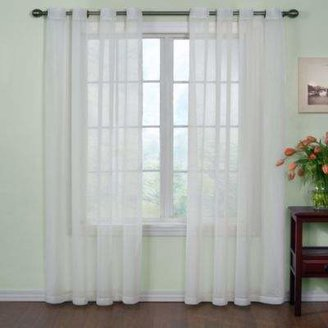 Arm & Hammer Arm and HammerTM Curtain FreshTM Odor Neutralizing 63-Inch Sheer Curtain Panel in White