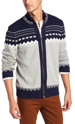 Nautica Men's Fairisle Full Zip Cardigan