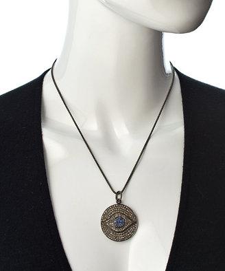 Socheec Pave Diamond Evil Eye Pendant Necklace
