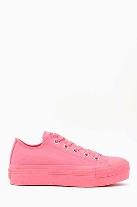 Nasty Gal Converse All Star Platform Sneaker - Pink