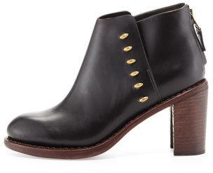 Rag and Bone Rag & Bone Ayle Leather Ankle Boot, Black
