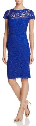 Tadashi Shoji Cap Sleeve Lace Dress $408 thestylecure.com