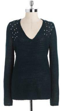 RD Style Studded V-Neck Sweater