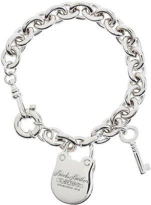 "Brooks Brothers 7.5"" Sterling Charm Bracelet"