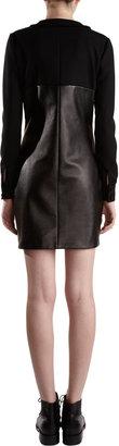 Saint Laurent Ruffle Bib Dress