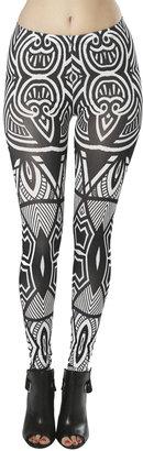 Arden B Graphic Tribal Printed Legging