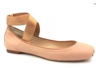 """Chloé CH20410"""" Nude Leather Ankle Wrap Ballet"""