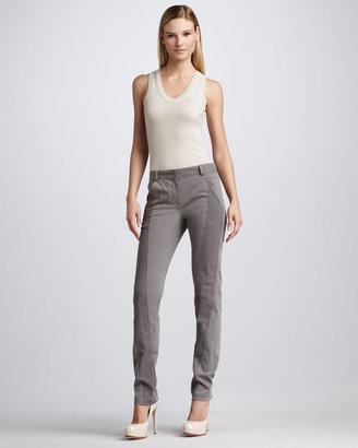 Donna Karan Slim Paneled Pants, Lunar
