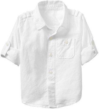 Gap Convertible linen shirt